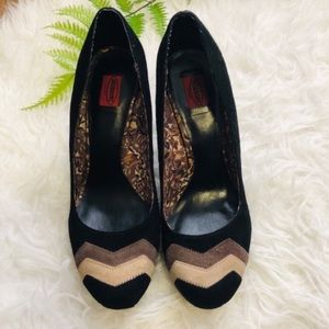 Missoni for Target Black Suede Chevron Pumps 8